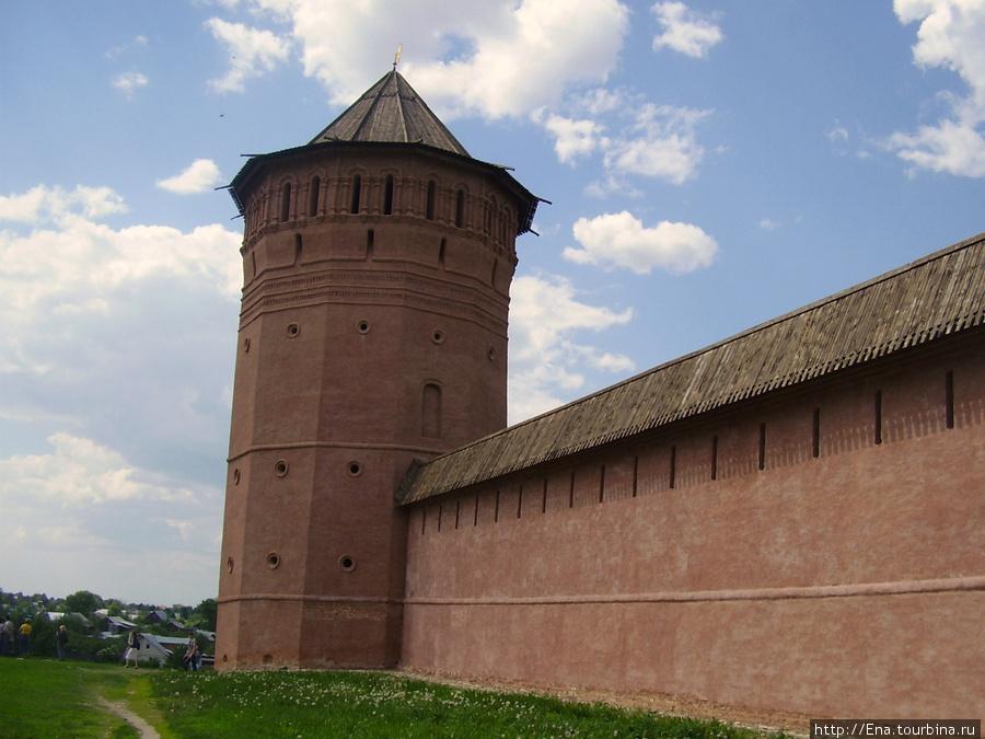 22.05.2010. Суздаль.  Спасо-Евфимиев монастырь. Башня и стены