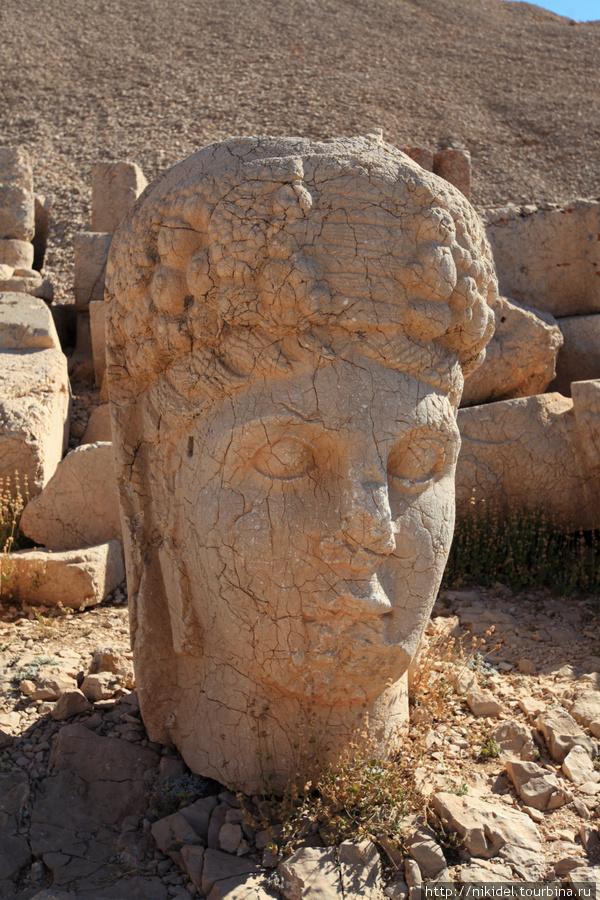 восточная терраса святилища на Немрут Даги — голова Тихе