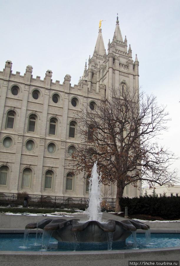 На улице мороз -15, а фонтан работает