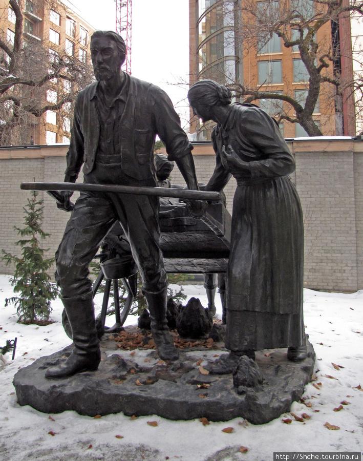 Памятник первым поселенцам-мормонам.
