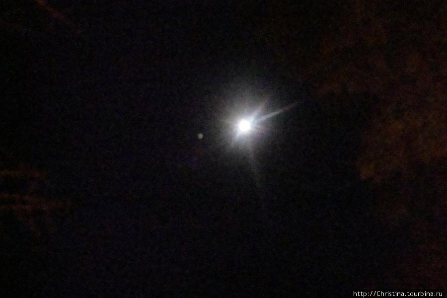 Небо над африканской саванной. Юпитер в одиночестве был в тот вечер. Фото за ужином. Ренджер сказал: look, — Jupiter! И я сфотографировала.
