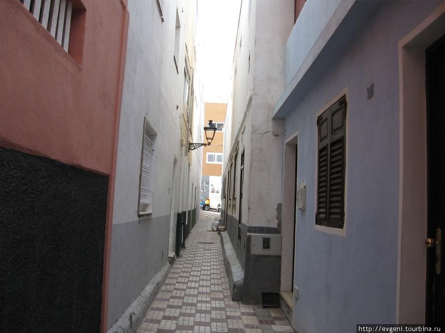 улочка в районе Пунта Браво — как в Таллинне