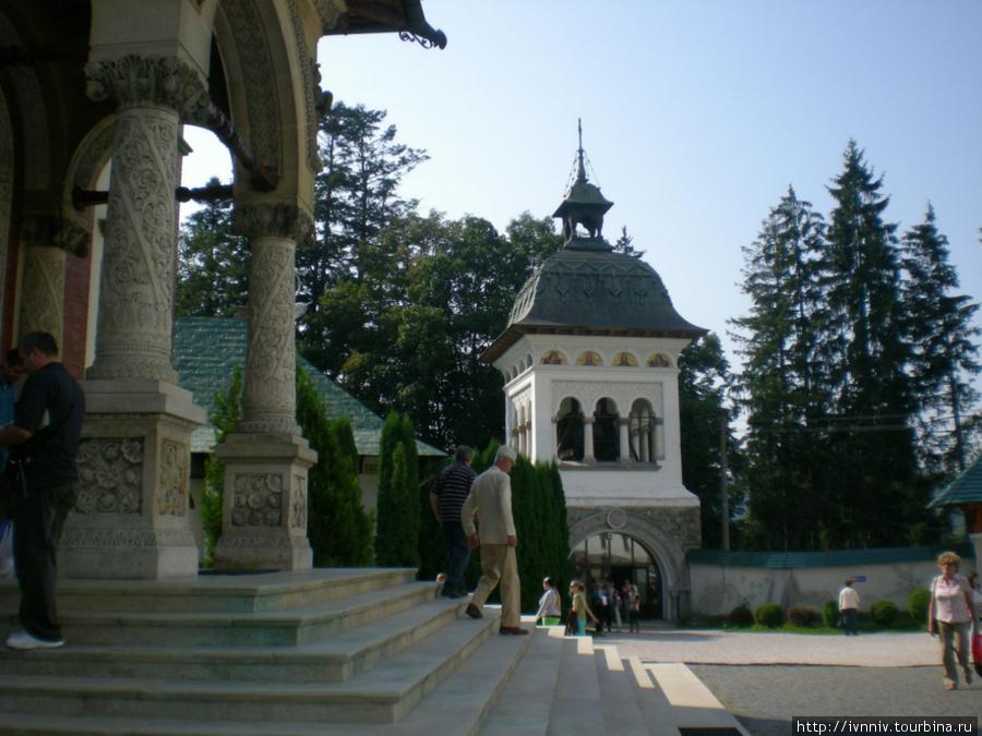 во дворе Синайского монастыря