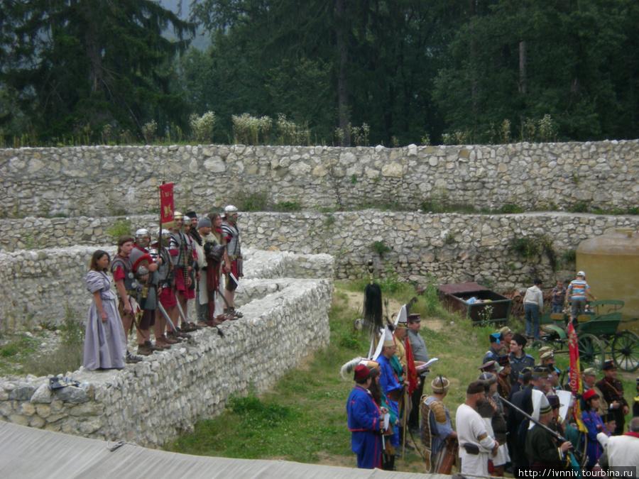 костюмированное представление в крепости