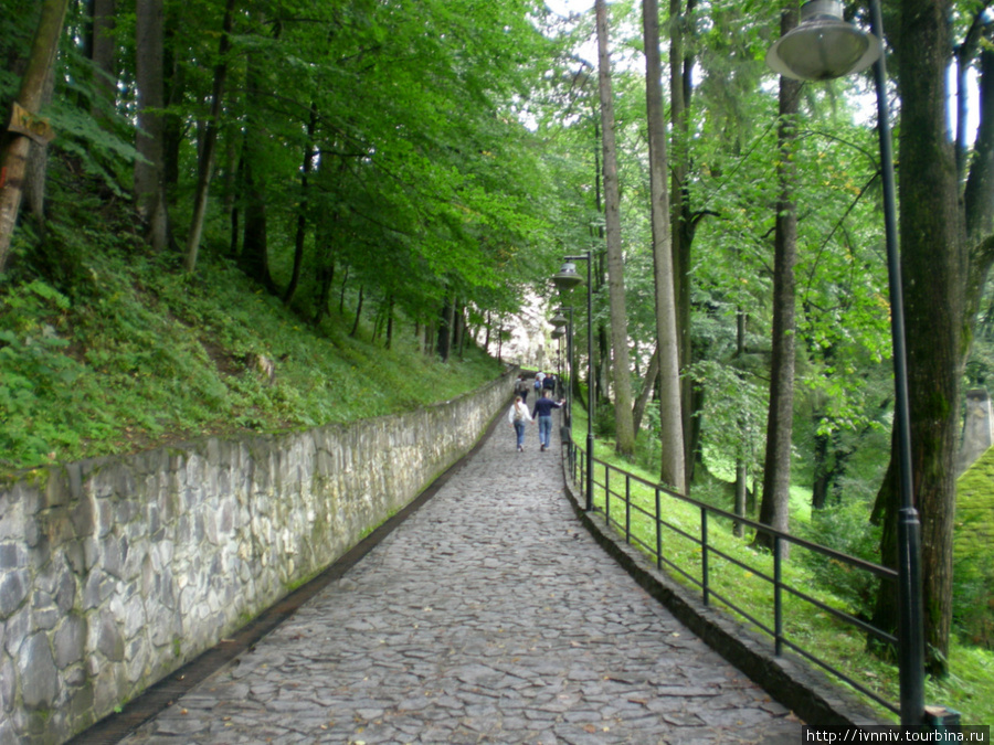 дорожка вверх к замку
