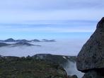 Вершины хакасских гор в нежном йогурте.