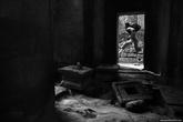 Участник нашего фотопутешествия в храмовом комплексе Та Пром.