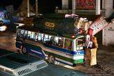 Автобусы раздолбаны и очень стары, но и их не хватает. На дороге нет пустых автобусов, их забивают до предела, и потом ещё подвешивают грузы со всех сторон.