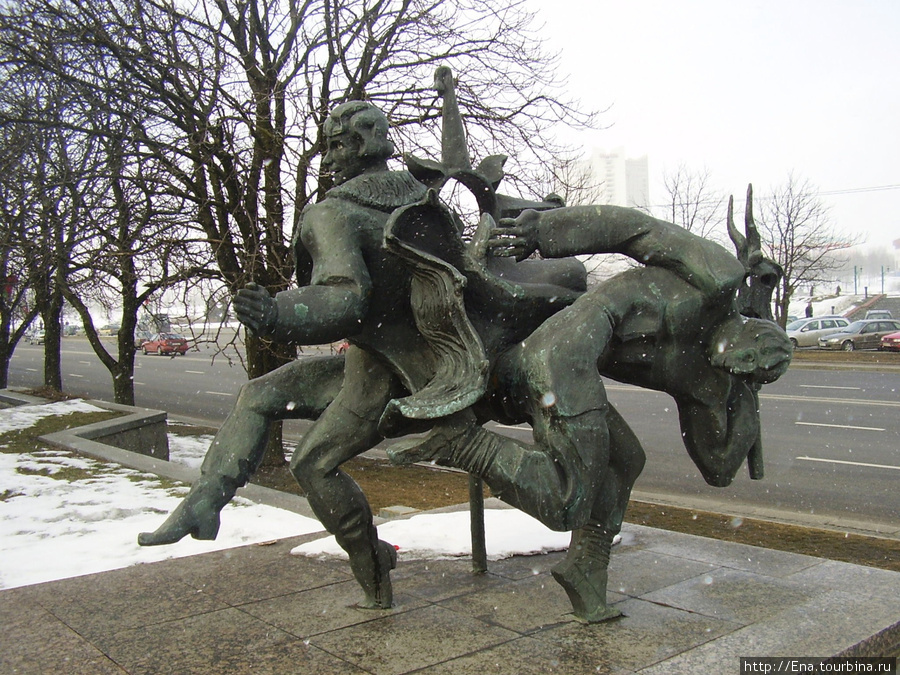 15.03.2010. Минск. Проспект Победителей. Каляды