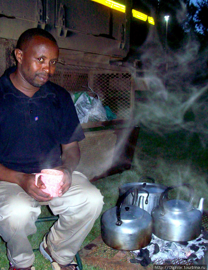 Стивен. Вечернее чаепитие. У нас была своя автономная походная кухня.