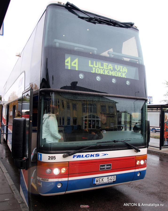 Провинциальный автобус из Йоккмокка в Лулео