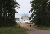 Панорама монастыря и дорога к Святой горе и Конь-камню.