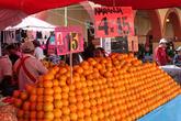 Апельсины 4кг за 15, это около 10-12 рублей за один килограмм