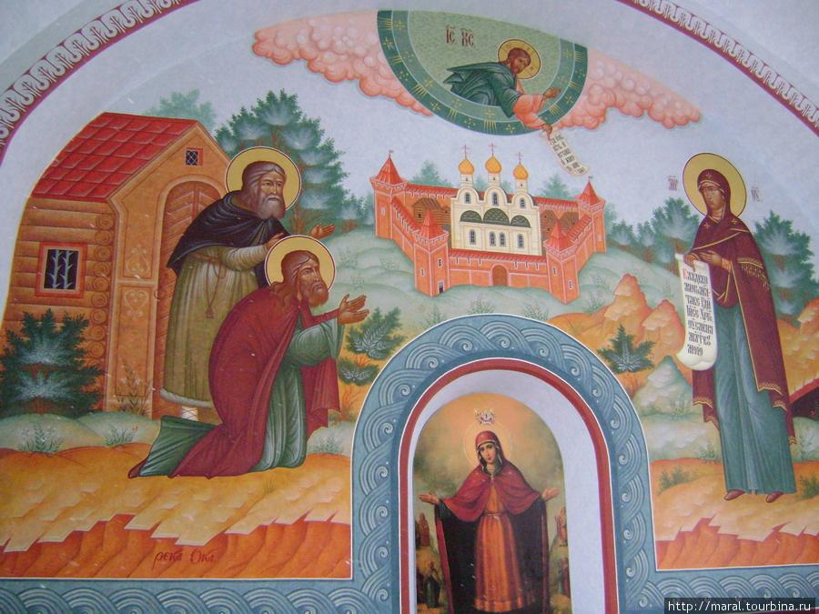 Явление Богородицы преподобному Серафиму Саровскому и старцу Антонию Грошовнику