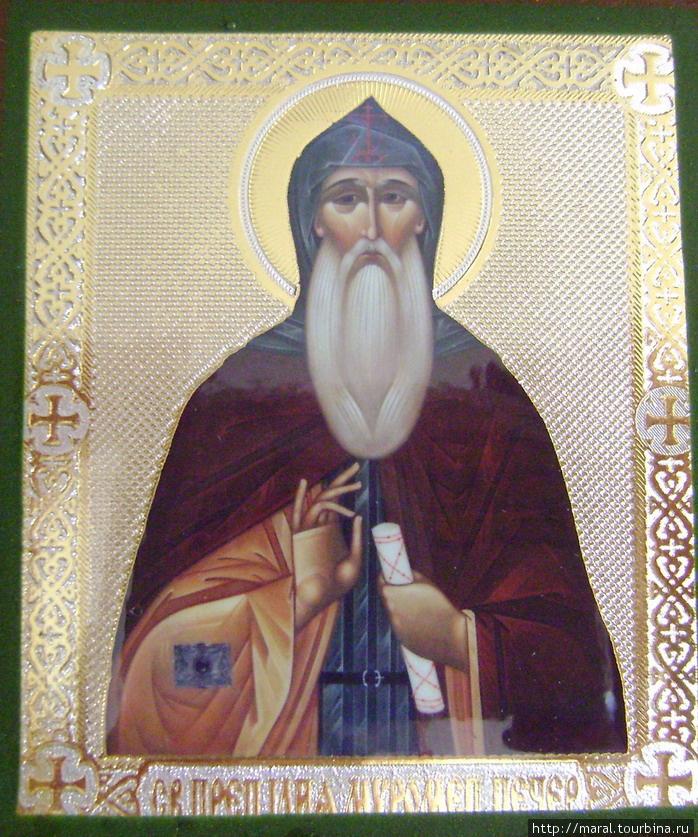 Иконописный образ святого преподобного Илии Муромца — Печерского (иконка из Муромского Спасо-Преображенского мужского монастыря)