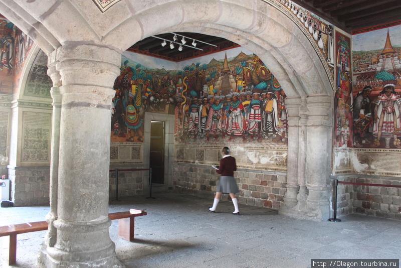 Граффити в доме правительства Тласкала-де-Хикотенкатль, Мексика