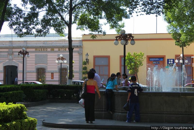 Зелёные площади города Тласкала-де-Хикотенкатль, Мексика