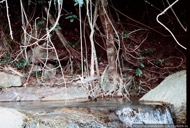 качель над водопадами