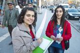 Студентки местного университета, болтали с нами на улице около получаса.