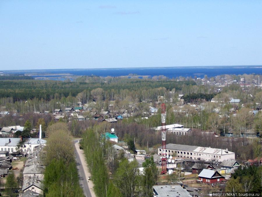 Весьегонск. Вид сверху.