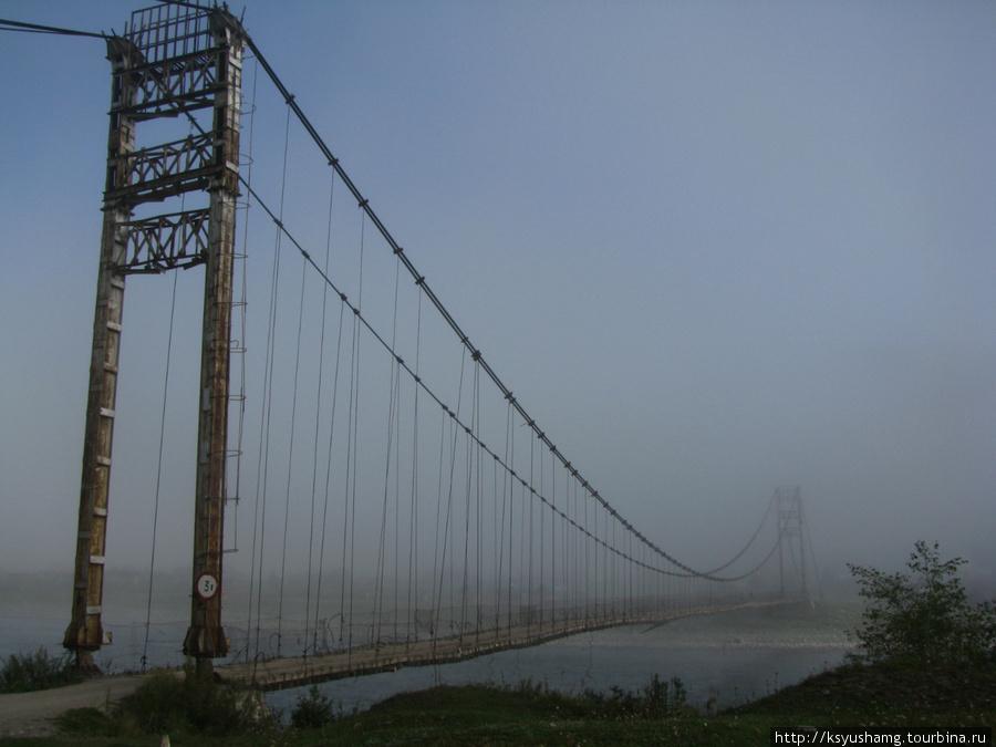 Мост через Катунь в Тюнгуре