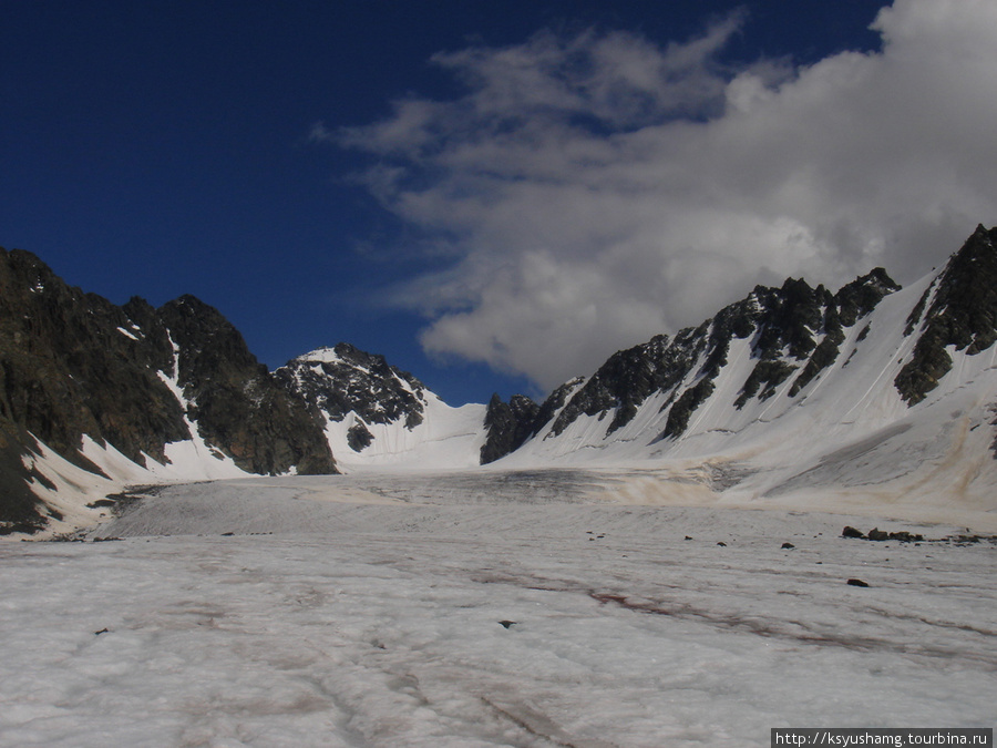 Перевал Восточный Капчальский с севера