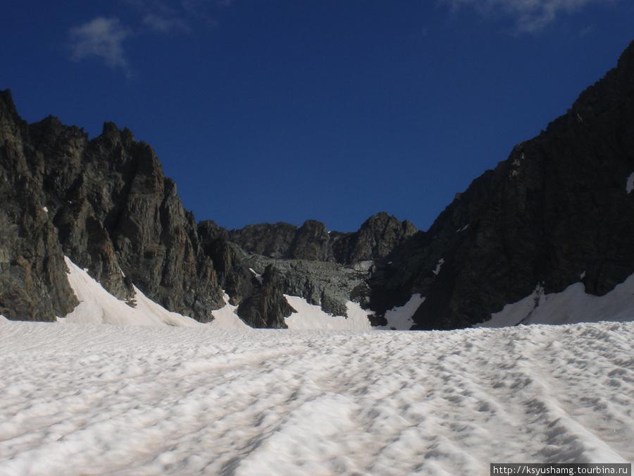 Перевал Восточный Капчальский с юга