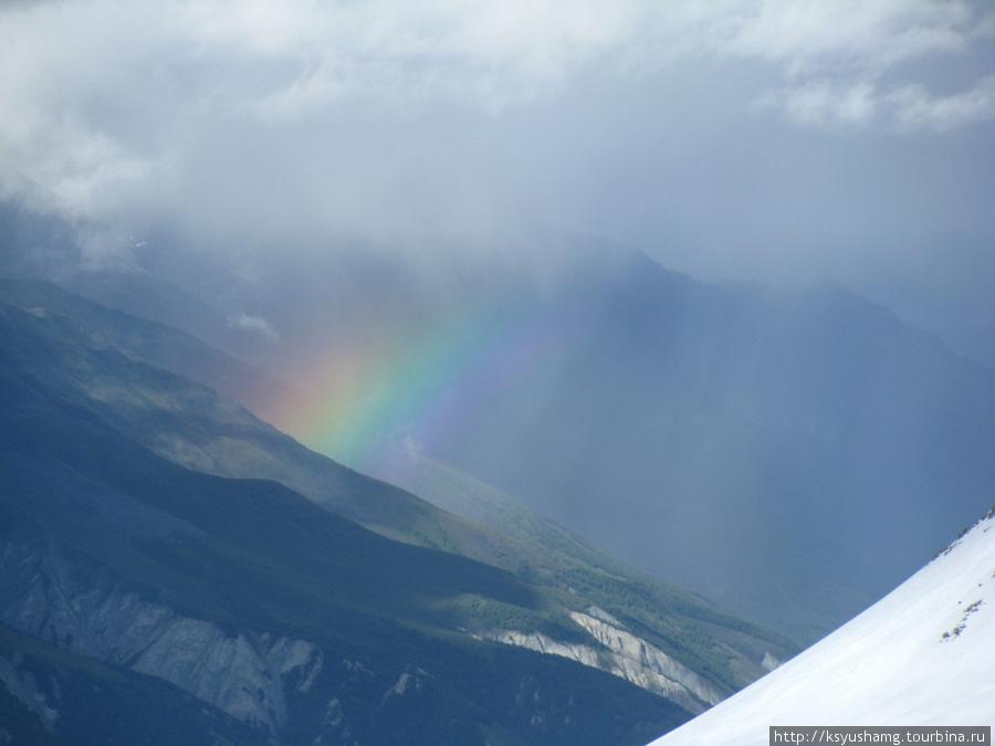 Радуга над ледником Менсу