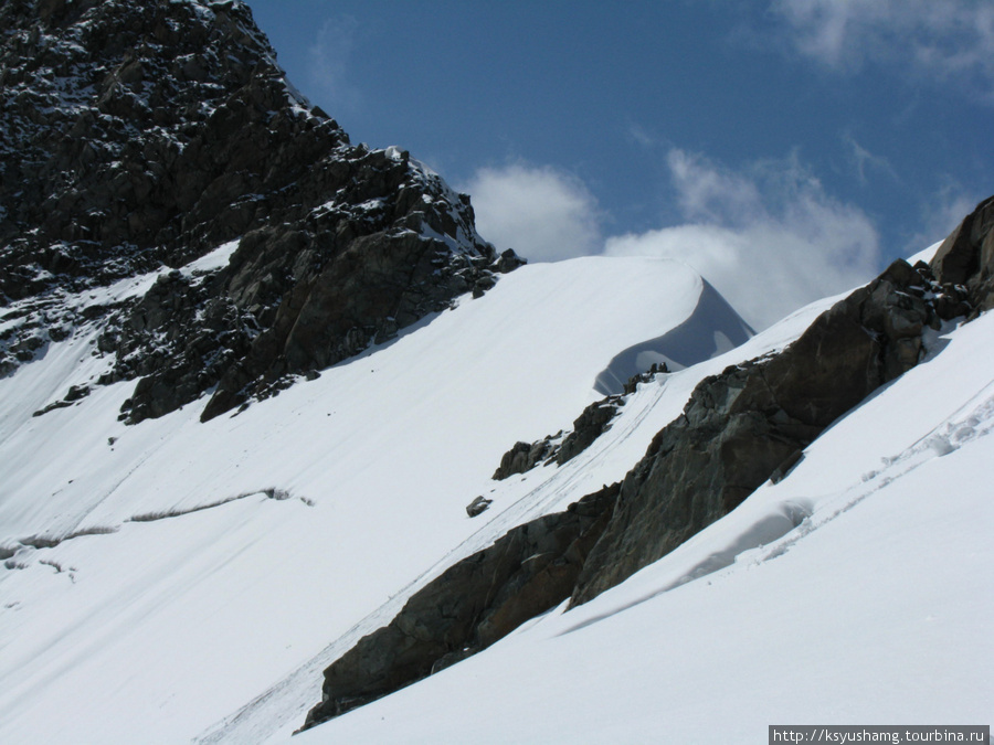вид с перевала Делоне
