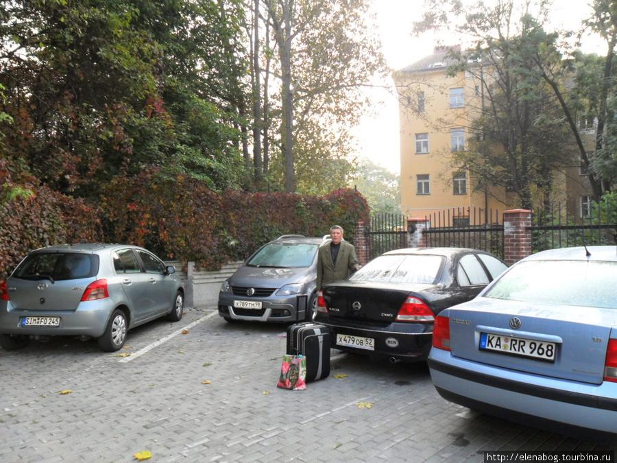 Прага, стоянка отеля
