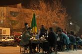 Кафе рядом с базаром с очень острой едой.