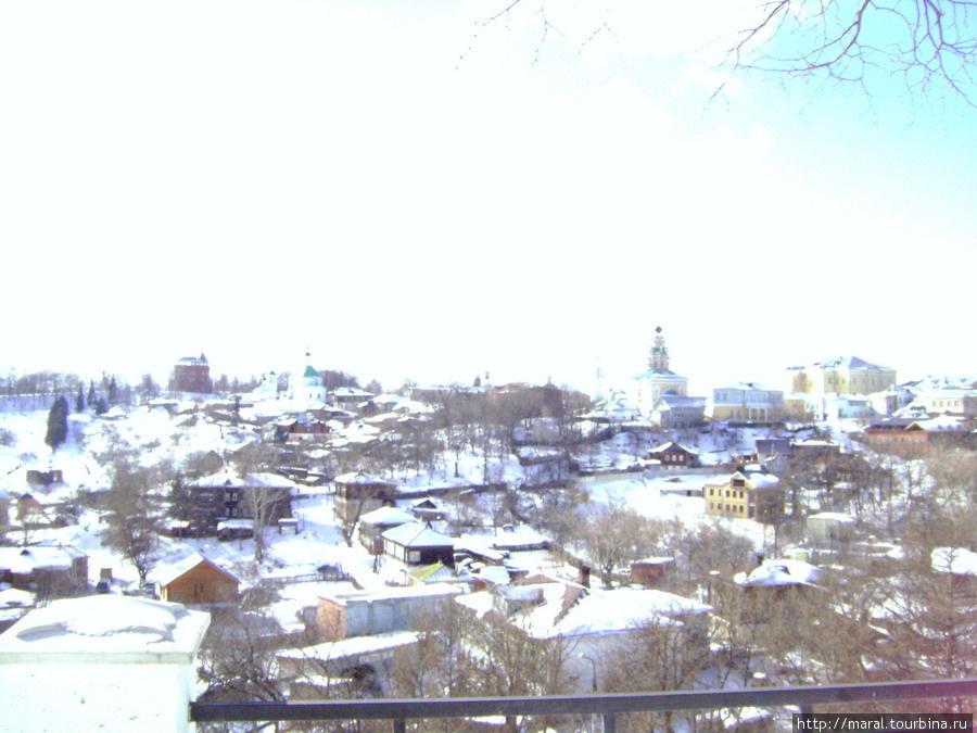 Вид на город с крутояра