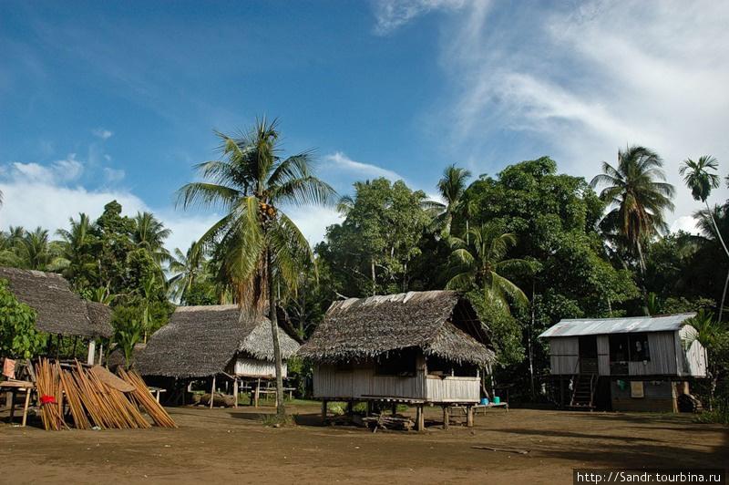 Дома в Бонгу строят на сваях