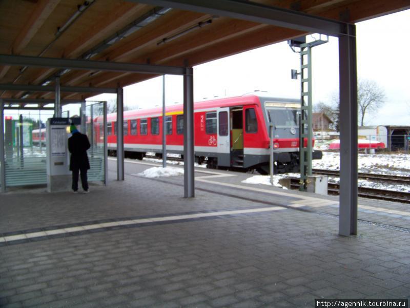 Региональный поезд на платформе Вассербурга