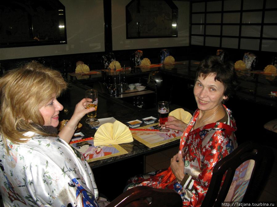 как мы с мамой в Японский ресторан ходили