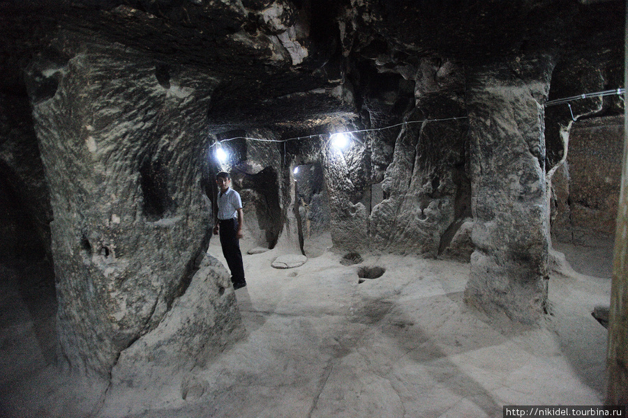 подземные помещения в монастыре Eski Gumusler