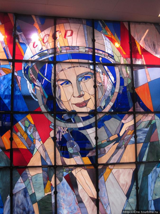 Нового Ярославского планетария не было бы без помощи В.В. Терешковой. Мозаичное панно