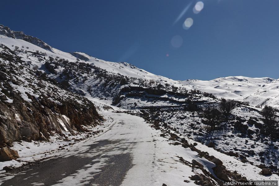 Дорога на Немрут, занесённая снегом