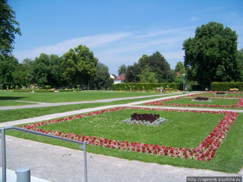 Парк возле резиденции
