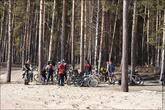 Секта нижегородских велосипедистов тоже заехала сюда