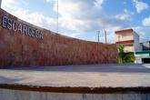 Памятник на главной площади в Эскарсеге