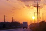 Закат на окраине города Эскарсега