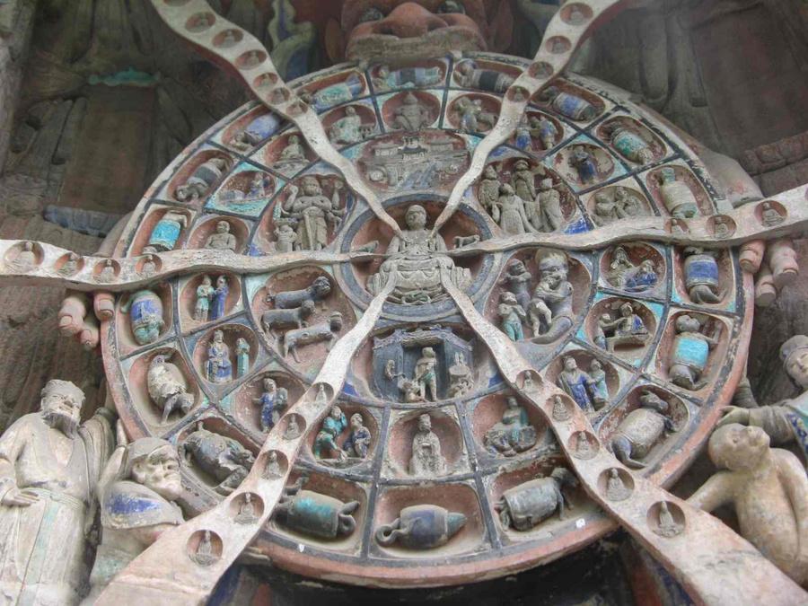 Выражение колеса Сансары (перерождения)