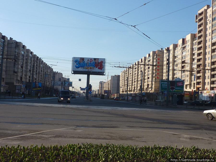 Начало Проспекта Большевиков.