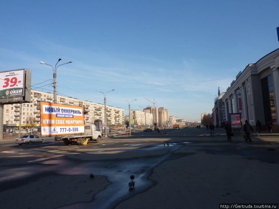 Проспект Большевиков в районе метро