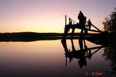 На рыбалке...