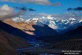 Долина Спити, Химачал Прадеш, Индия Шеститысячники на закате