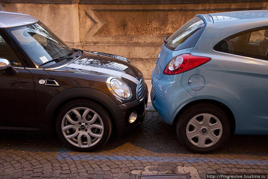 ...паркуются в основном вот так!
