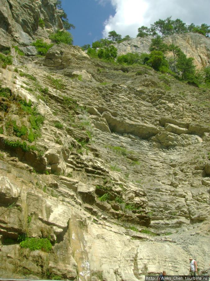 Таким можно увидеть водопад летом. Воды 0 целых, Х десятых.