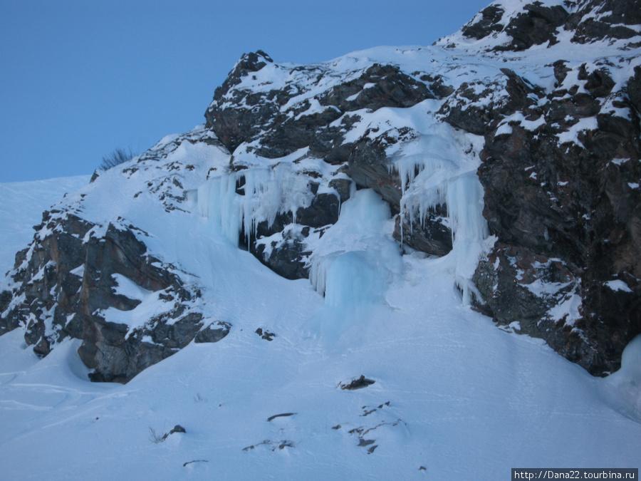 Застывшая вода ледника Пеклет.